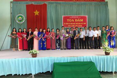 Hoạt động kỷ niệm ngày nhà giáo Việt Nam (20/11/1982-20/11/2018).